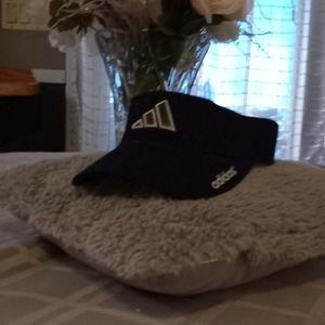 Adidas sun visor ,dark blue velor/jean material